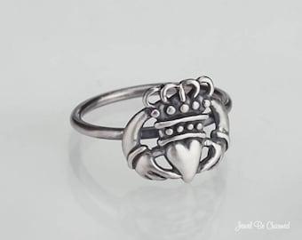 Sterling Silver Claddagh Ring .925 Friendship Claddaugh Custom Sizes