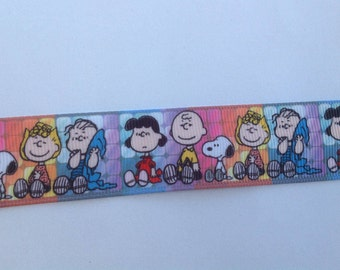 "1""  Snoopy - Peanut Friends  inspired Grosgrain Ribbon  -  By The Yard"