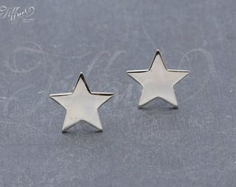 Earrings 925 sterling silver * shiny star * star * stud earrings