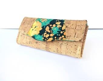 Cork Leather Necessary Clutch Wallet
