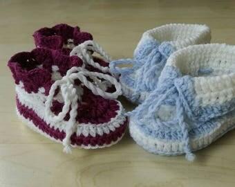 baby booties crochet - merino wool  booties - baby socs