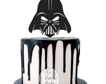 Star wars cake topper, rogue one party, star wars party, darth vader, star wars decorations, space party