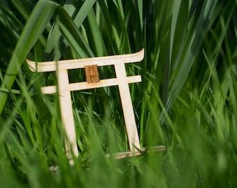 Wooden Shrine Gate Ornament (Customisable)