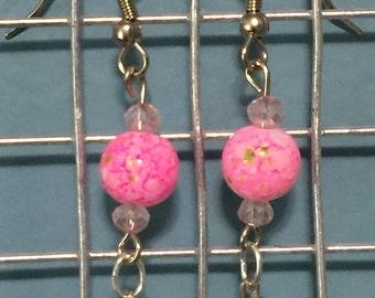 Peonies peace earrings