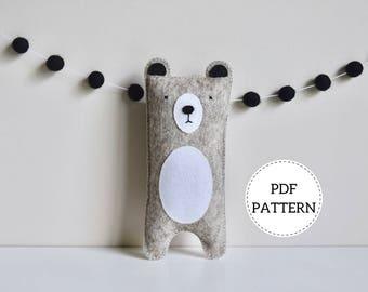 Bear Softie Pattern | PDF Download | Wool Felt Toy
