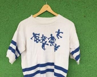 Vintage Matisse White & Blue Stripe Sweater
