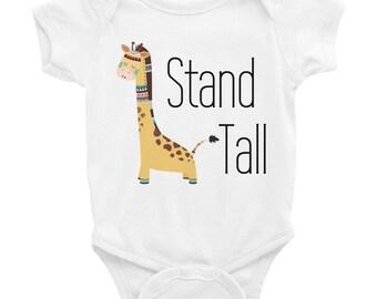 Tribal Giraffe Shirt - Girls Stand Tall Shirt - Toddler Boho Shirt - Kids Graphic shirt - Animal Baby Onesie