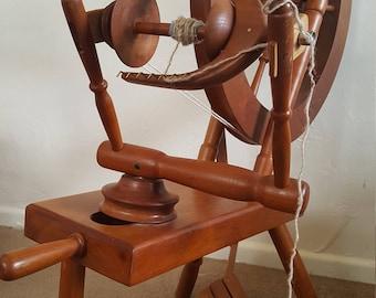 Custom made cherry spinning wheel