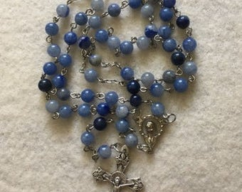 Blue Adventurine Rosary