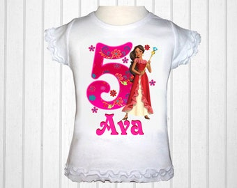 Elena Shirt - Elena of Avalor Birthday Shirt Personalized with Name and Age