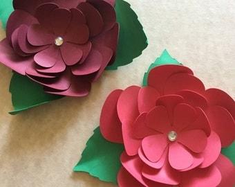 5 DIY Paper Cardstock Flower Package [Creates 5 Complete Flowers]