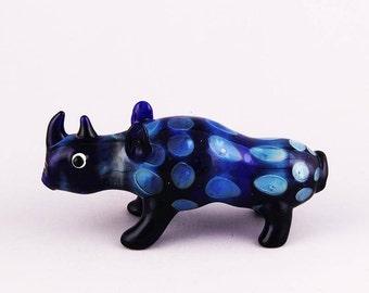"""Pristine Pipes """"Blue Rhino"""" Glass Smoking Pipe"""