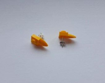 LEGO tooth/beak earrings