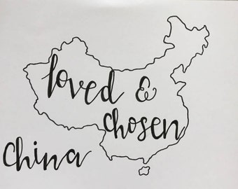 Loved and Chosen- China Adoption Hand-Lettering