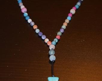 Multi-Colored Cross Prayer Necklace