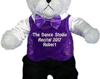 personalized Irish Step Dance White Boy Bear