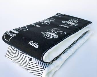 Flannel Cloth Diaper Burp Cloth - Coffee - Set of 2 - Gender Neutral