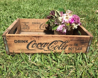 Original Vintage Coca-Cola Wooden Box