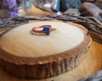 Lapis Lazuli and Copper Ring
