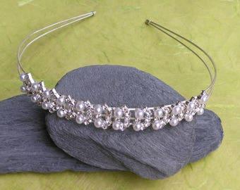 Bridal headband, hair accessories, tiara, bridal headpiece, cristal diadema