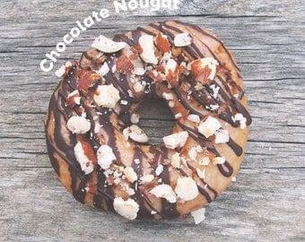 Chocolate Nougat Vegan Donut