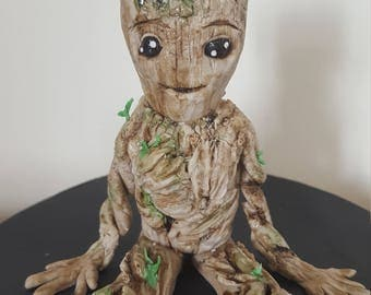 Baby Groot fondant cake topper (Guardians of the galaxy 2)