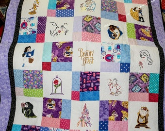 Beauty and The Beast handmade quilt