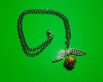 Harry Potter Golden snitch necklace.