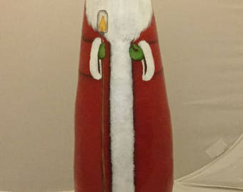Red Bald Gourd Santa with Lantern