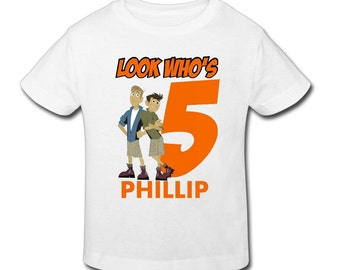 Wild Kratts Birthday Shirt - Personalized Birthday T- shirtBirthday 1st, 2nd, 3rd, 4th, 5th Birthday - Fast Shipping!