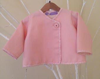 Pink wool jacket 6-9 months