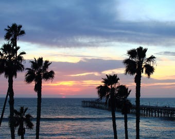 Last Light at San Clemente Pier