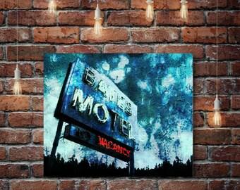 Bates Motel Art Print or Canvas, Wall Art, Artwork, Gift