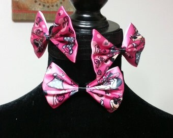 Pink and Black Minnie Mouse Headband