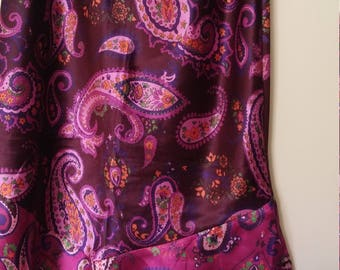 womens psychedelic 90s paisley skirt