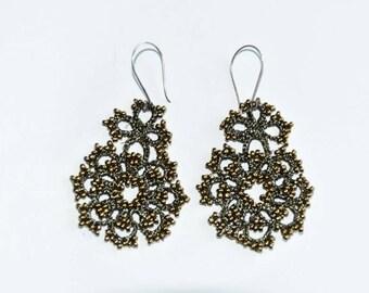 Bronze and beads