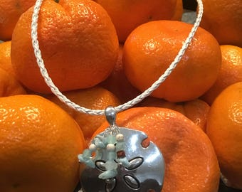Pewter Sand dollar necklace