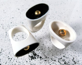 Equilibrium, contemporary porcelain ring