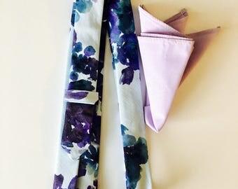 Purple pocket square