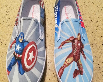 COMIC BOOK SHOES - you choose the scenes and characters