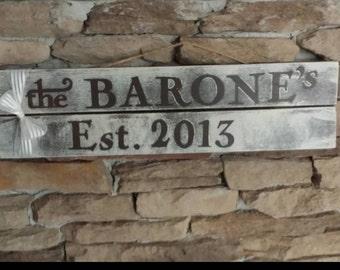Custom Family Name Hanging Sign