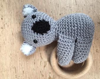 Crochet rattle Koala