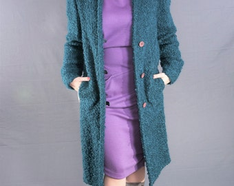 KRIZIA 80's Vintage Boucle WOOL Knit Jacket / DEADSTOCK 1980's Designer Coat, Size Small. Nwt