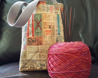 Transportation Tickets Knitting Bag / Tote Bag