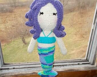 Marnie The Mermaid Plush, Amigurumi, Stuffed doll, Mermaid Doll, Stuffed Toy, Gift, Plushie, Aquatic Sea