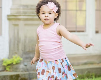 toddler girls skirts I scream for Ice cream skirt 2 T - 9 Y Boutique Childrens Clothing