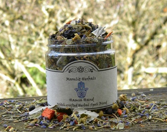 Hamsa Hand Herbal Spell Blend  - Energetic Protection, Shielding, Warding, Deflecting the Evil Eye, Altar Incense, Candle Magick, Pagan