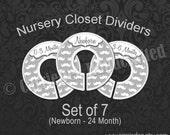 Assembled Grey Mustache Nursery Closet Dividers, Baby Clothes Dividers, Clothes Organizer, Baby Shower Gift, Gray Baby Boy, Gray Nursery