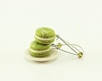 Pistachio Macaron Earrings