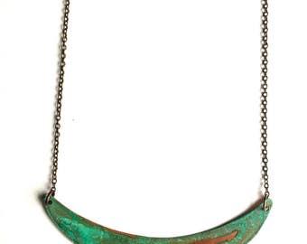 Patina Crescent Necklace